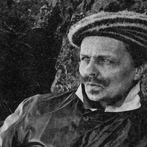 August Strindbergs i fotografiskt självporträtt