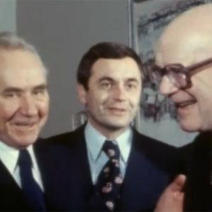 Urho Kekkonen och Alexej Kosygin samtalar, 1977