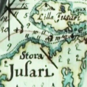 Karta över Stora och Lilla Jusari.