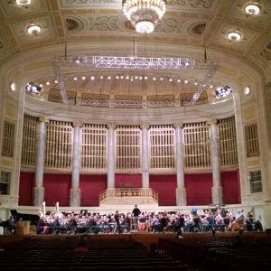 RSO Wienin konserttitalossa tammikuussa 2016