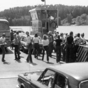 Färja med ungdomar, 1976