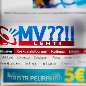 Skärmdump på Mv-lehti.