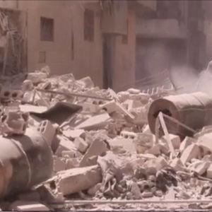Klorgasangrepp i Aleppo.