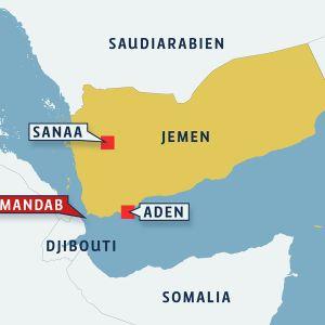 karta över Jemen