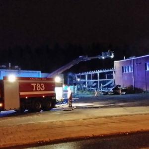 Brand i Runosbacken i Åbo.
