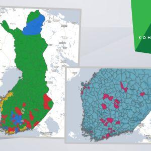 Kartor över valresultatet i kommunalvalet 2017