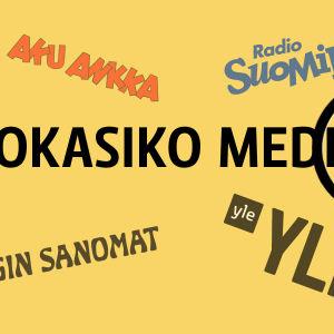 Mokasiko media -otsikko keltaisella pohjalla