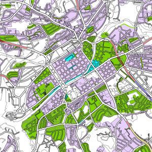 Karta över hastighetsbegränsningar i Åbo