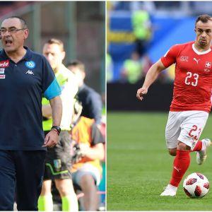 Maurizio Sarri och Xherdan Shaqiri.