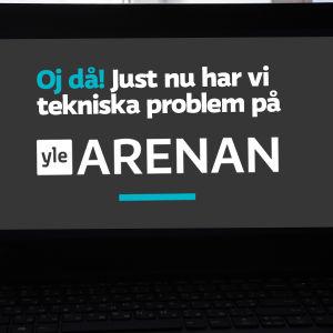 En dator med med text på skärmen.