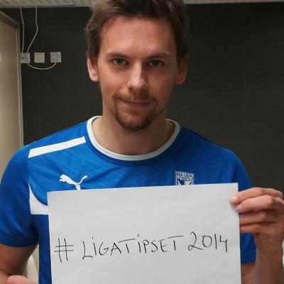 Kasper Hämäläinen är ambassadör för #ligatipset2014