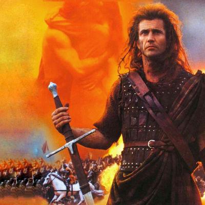 Mel Gibson som William Wallace i filmen Braveheart.