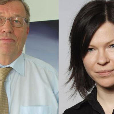 Hannu Penttilä (SDP) och Anni Sinnemäki (Gröna)