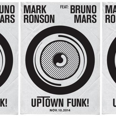Poster på Mark Ronsons och Bruno Mars singel Up town funk.