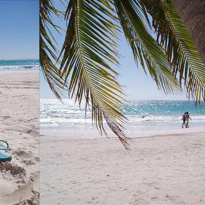 Stranden i Tulum år 2005, innan alla fashionistas hittade dit.