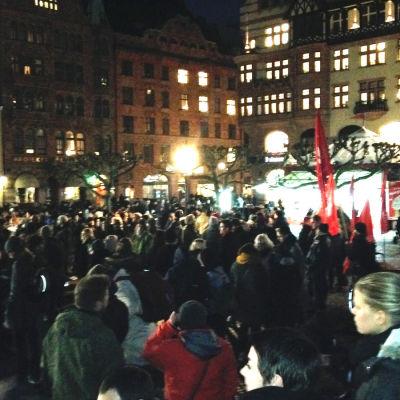 Motdemonstration mot Pegida i Malmö