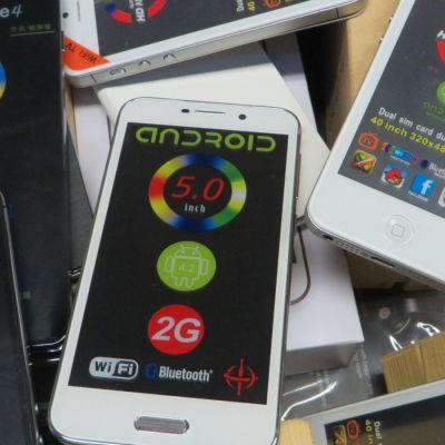 Tusentals förfalskade smarttelefoner