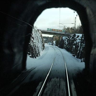 Enspårig järnväg
