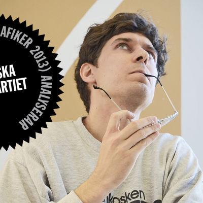 Logo för Kasper Strömmans analys av SFP:s webbsida.