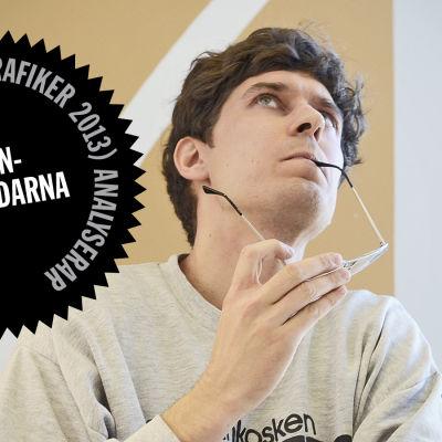 Logo för Kasper Strömmans analys av Sannfinländarnas webbsida.