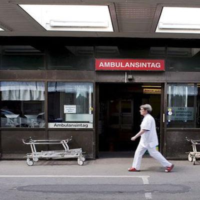 Sjuksköterska i Sverige.