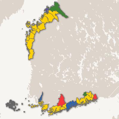 partiernas väljarstöd i Svenskfinland i riksdagsvalet 2015