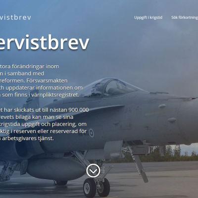 Reservistbrev som skickas till finländare