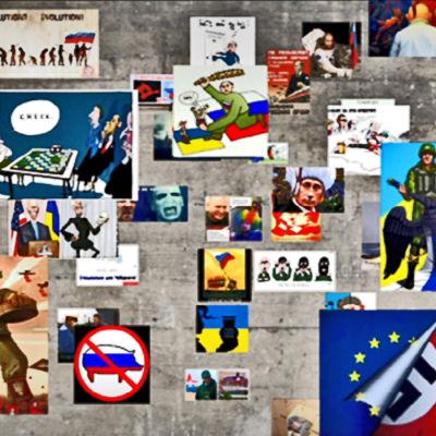 Exempel på propaganda bilder från Ukrainakrisen
