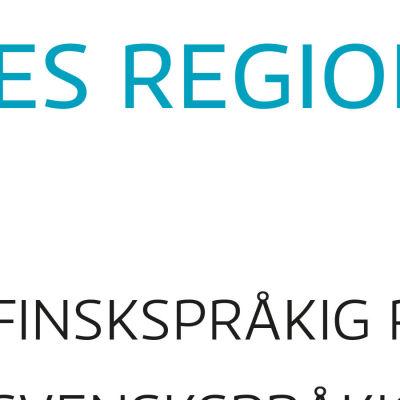 Karta över Yles redaktioner.