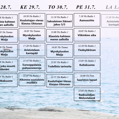 itämeren heinäkuun ohjelmakartta vko 5