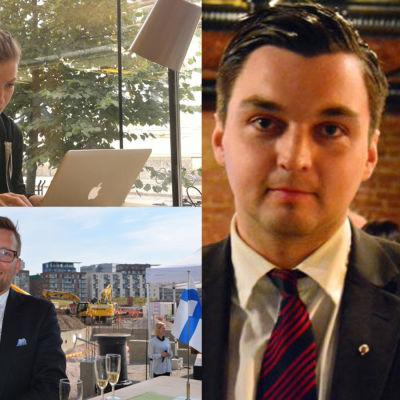 riksdagsledamoterna Li Andersson, Mats Löfström, joakim strand