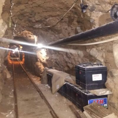En 800 meter lång tunnel som var avsedd för narkotikasmuggling till USA.
