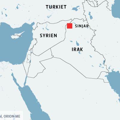 Kurdiska krigare återtog Sinjar av IS