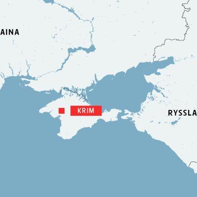 Karta över Krim, Ukraina och Ryssland.