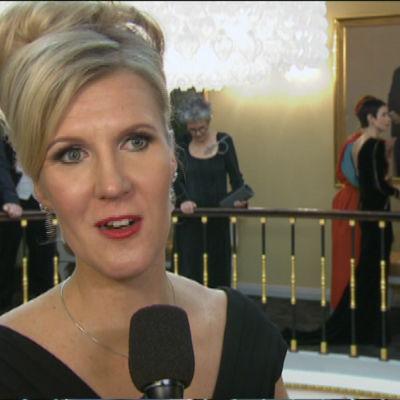 Sari Multala på Slottsbalen 2015.