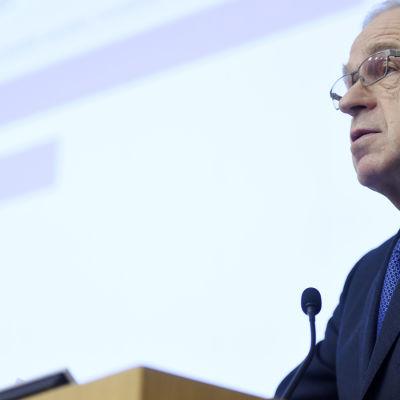 Finlands Banks chefdirektör Erkki Liikanen