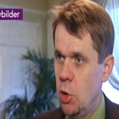 Stefan Johansson blir intervjuad.