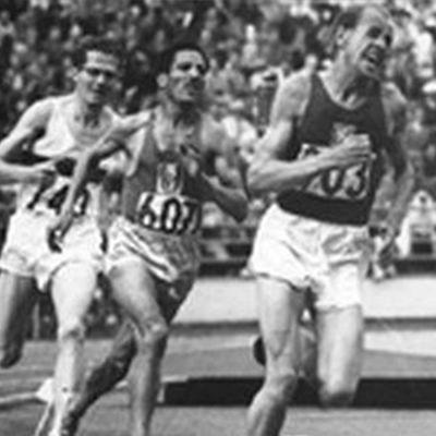 Löpare på Olympiaden i Helsingfors.