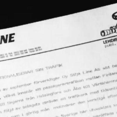 Silja Lines pressmeddelande.