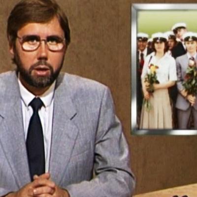TV-nytt om skolavslutningen 1987.