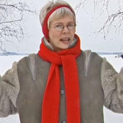 Christine Saarukka på Jussarö.