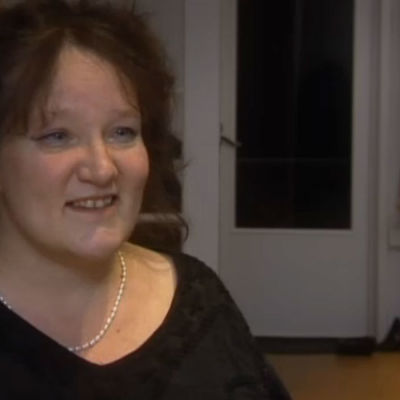 Monika Fagerholm i en intervju.