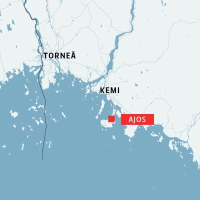 Karta över Kemi och Ajos.