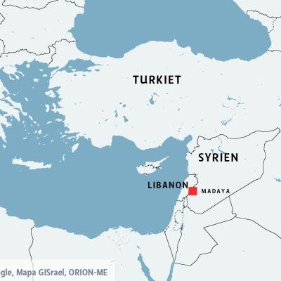 Syriska staden Madaya vid gränsen till Libanon.