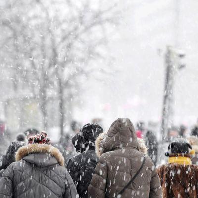 rekordmycket snö föll i norra satakunta