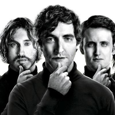 Silicon Valley-sarjan Dinesh (Kumal Nanjiani), Erlich (T.J. Miller), Richard (Thomas Middleditch), Jared (Zach Woods) ja Gilfoyle (Martin Starr).