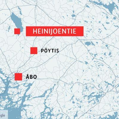 Karta visar Heinijoentie.