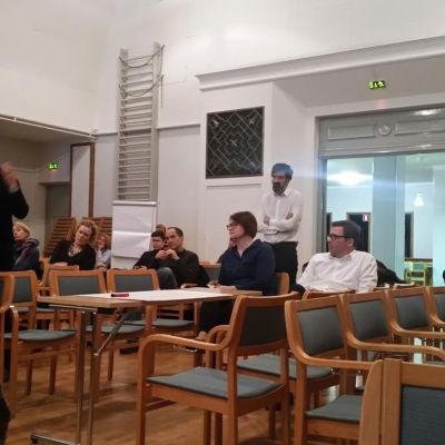 Öppet möte på utbildningsverket i Helsingfors 3.3.2016.