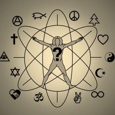 """Logo för """"Vad tror du på?"""""""