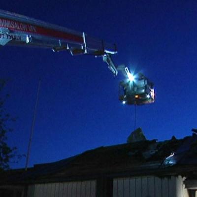 Brandkårens skylift i Helsingfors